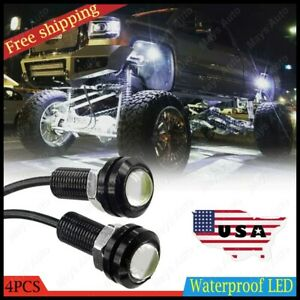 4x Waterproof Led Rock Light For Jeep Suv Off Road Truck Underbody Trail White