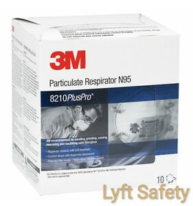3m 8210pluspro N95 Particulate Respiratory Protection Half Face Mask pick Size