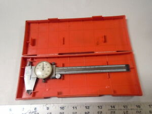 Machinist Tools Lathe Mill Machinist Mitutoyo Dial Caliper Gage In Case An