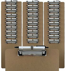Trade Quest Pen Holder Clipboard Letter Size pack Of 30