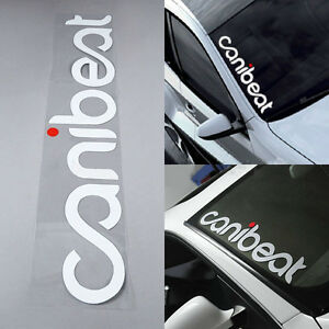 Canibeat Hellaflush Car Styling Front Windshield Decor Reflective Decal Sticker