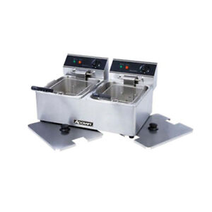 Adcraft Df 6l 2 Double Electric Countertop Deep Fryer