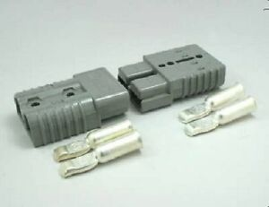 Authentic Anderson Sb50 Connector Kit Gray 6 Awg 2 Housings 4 Contacts