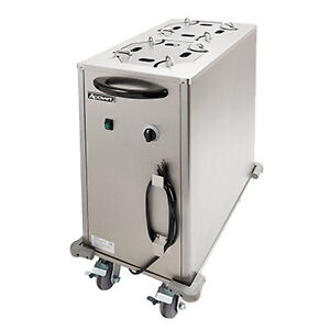 Adcraft Lr 2 Mobile Enclosed Heated Plate Lowerrator Plate Dispenser