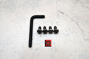 Anti Theft Black Nickel Security Screws For Audi Front License Plate Frame