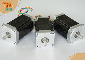 usa Ship 3 Pcs Dual Shaft Nema34 Step Motor 1600oz in 3 5a Cnc