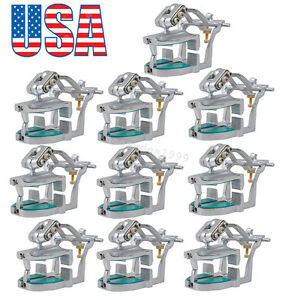 10 Adjustable Magnetic Articulator Dental Lab Equipment Dentist Full Teeth Model