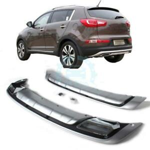 Chromed Protecter Plate Front Rear Bumper Spoiler Flap For Kia Sportage 10 14