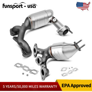 Front Rear Exhaust Catalytic Converter Manifold For 01 06 Ford Escape 3 0l V6