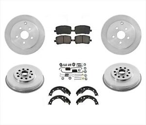 New Rotors Drums Brake Shoes Springs 6pc For Toyota Matrix All Wheel Drive 03 06
