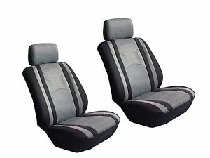 Fits Honda Automotive Car 4 Pc Mesh Black Gray Seat Covers W Head Rest Covers