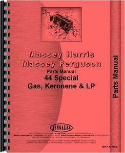 Massey Harris 44 Tractor Special Parts Manual mh p 44spcl