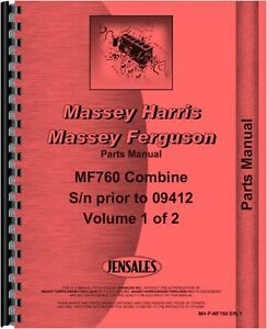 Massey Ferguson 760 Combine Parts Manual sn