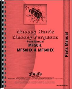 Massey Ferguson 50h 50hx 60h Tractor Loader Backhoe Parts Manual