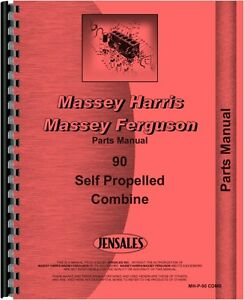 Massey Harris 90 Combine Parts Manual