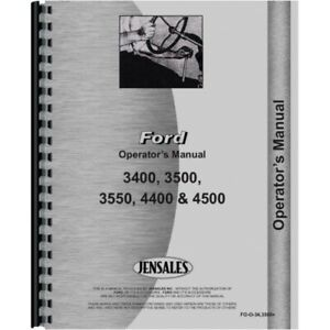 Ford 3400 3500 3550 4400 4500 Industrial Tractor Operators Manual Fo o 34 3500