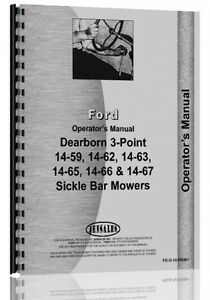 Ford Dearborn Sickle Bar Mower Operators Manual