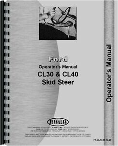 Ford Cl30 Cl40 Skid Steer Operators Manual Fo o cl30 cl40