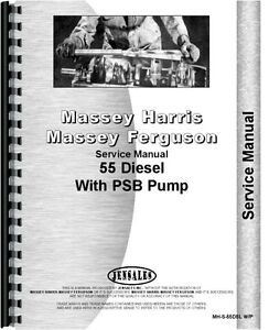 Massey Harris 55 Tractor With Psb Diesel Pump Service Manual