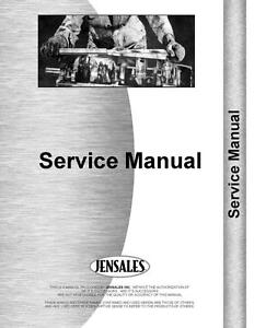 Massey Harris 55 55k Western Special Riceland Tractor Service Manual