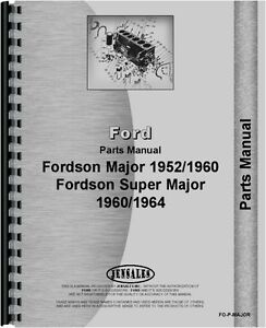 Ford 4000 5000 Major Tractor Parts Manual fo p major