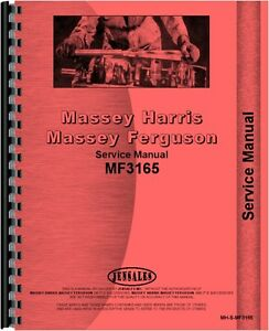 Massey Ferguson 3165 Industrial Tractor Service Manual Mh s mf3165