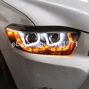 2008 2011 Year For Toyota Highlander Led Headlights Led U Style Angel Eyes Light