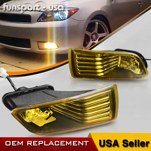 For 05 10 Scion Tc Yellow Bumper Fog Lights Driving Lamps W Switch Bulbs Harness