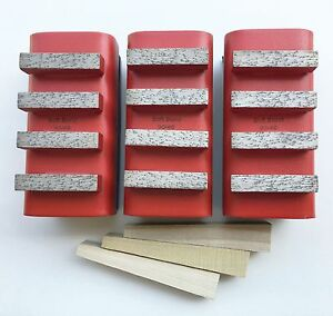 New 3pk Hard Concrete Diamond Grinding Block For Edco stow husq general Grinders