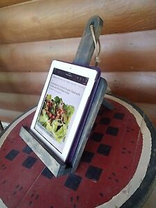 Wood Tablet Cookbook Holder Home Table Decor Free Ship Us Country Kitchen Recipe