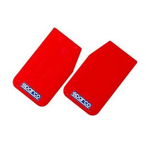 Sparco Pair Of Red Universal Mud Flaps 03791rs