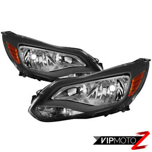 2012 2014 Ford Focus factory Style Black Housing Headlamp Lights Replacement