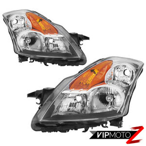 factory Style Chrome Reflector Headlights Lamp Set For 2007 2009 Nissan Altima