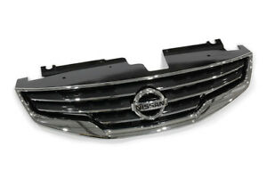 2010 2012 Nissan Altima Front Bumper Chrome Grille Grill Shell W Emblem Oem New