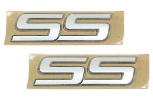 Oem New Trunk And Fender Ss Emblem Set Of 2 Pearl White 06 10 Chevrolet 10336980