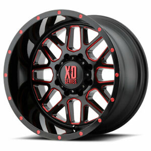 Xd Series Xd820 Grenade 20x9 6x135 Et18 Black Milled W Red Clear Coat Qty Of 1