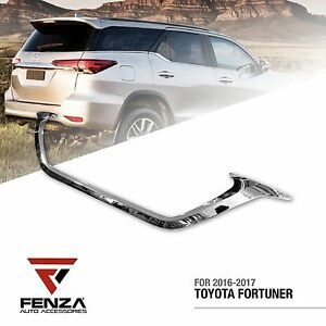 Chrome License Plate Trim For 2016 2019 Toyota Fortuner