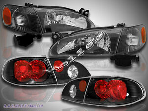 1998 2000 Toyota Corolla Headlights Corner Lights Tail Lights Jdm Black