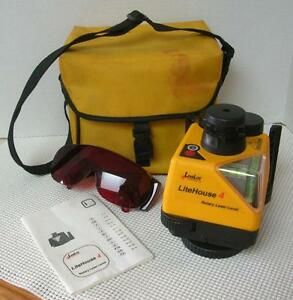 Levelite Litehouse 4 Rotary Laser Level With Case Safety Glasses