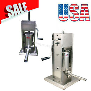 Us Sausage Stuffer Vertical 5l 15lb 11 Pound Meat Filler Stainless Steel Machine