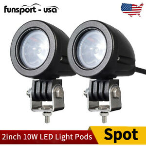 2inch 10w Led Round Light Spot Beam Offroad Truck Tractor Driving Fog Light Pods