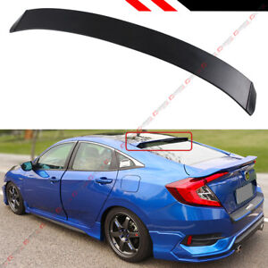 Ver 2 Jdm Rear Window Roof Spoiler Wing For 16 2021 10th Gen Honda Civic X Sedan