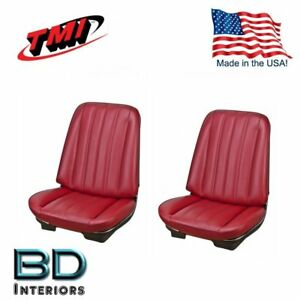 1966 Chevy Chevelle Malibu Front Bucket Seat Upholstery Red Made In Usa By Tmi