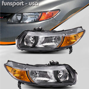 Headlights Assembly Replacement For 2006 2011 Honda Civic Coupe 2dr Left Right