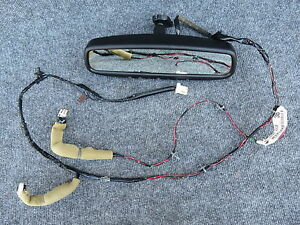 06 09 Nissan 350z Coupe Convertible Oem Interior Rear View Mirror W Harness