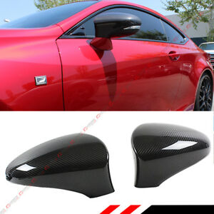 For 2013 18 Lexus Models Direct Add on Carbon Fiber Side Mirror Cover Caps Pair