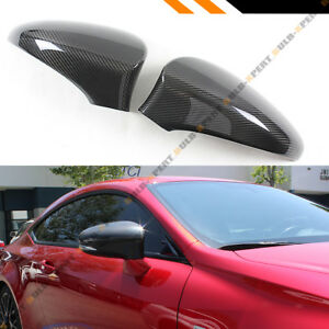 For 2013 18 Lexus Is200t Is250 Is350 Add On Carbon Fiber Side Mirror Cover Caps