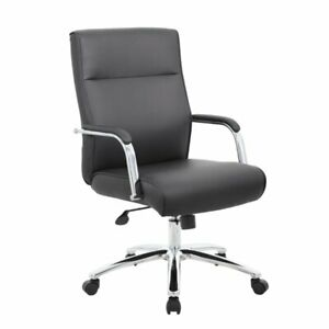Boss Mid Century Mod Executive Conference Chair In Black