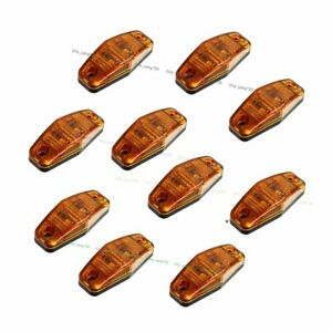 10x 2 5 Amber Side Marker Light Led Lamp 2 Diode Oval Clearance Trailer Truck