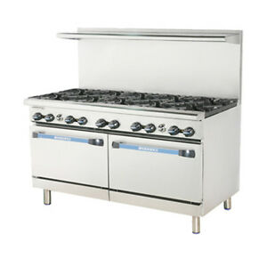 Turbo Air Tar 10 Radiance 60 Gas Restaurant Range With 2 Standard Ovens